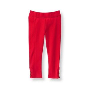 Janie and Jack red button cuff ponte leggings